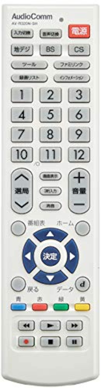 オーム電機,シャープ アクオス用 TVリモコン,AV-R320N-SH