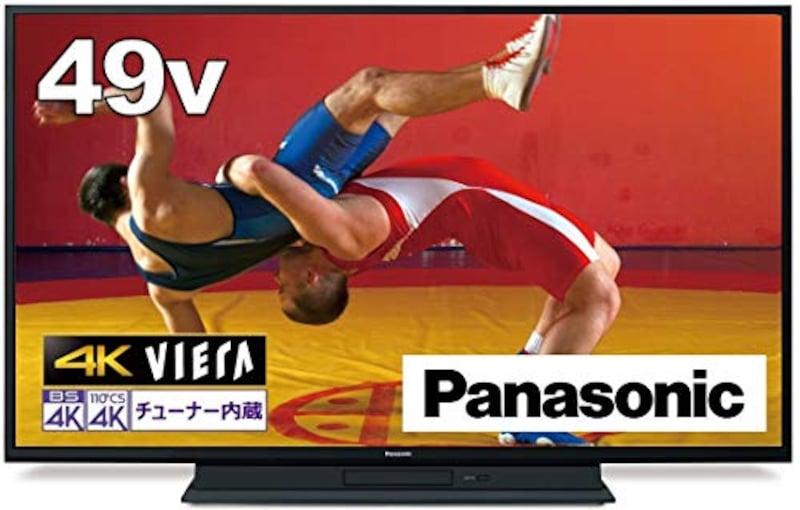 パナソニック,49V型 4Kダブルチューナーテレビ,TH-49GR770