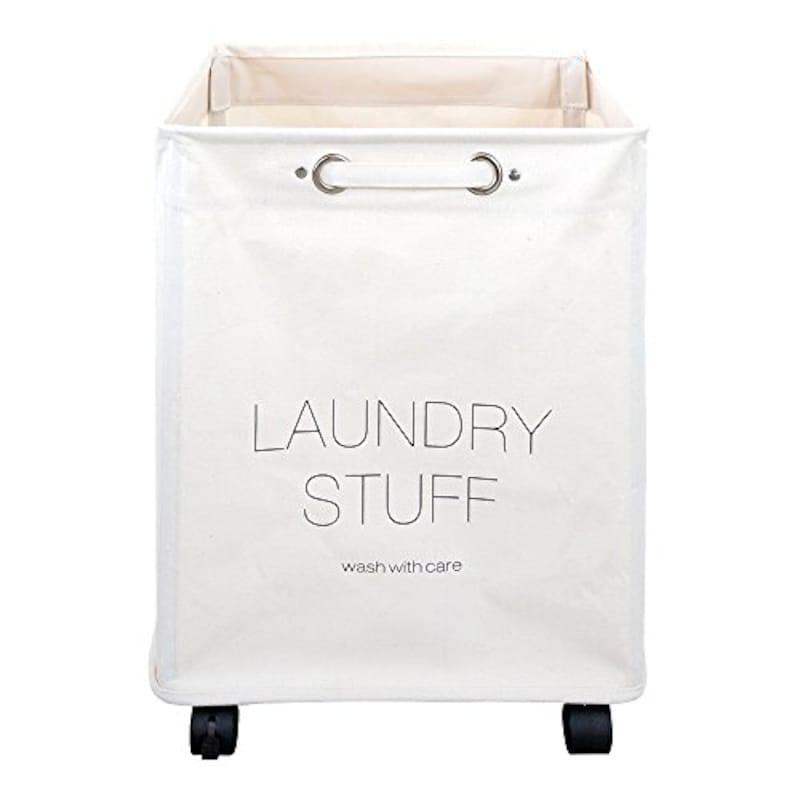 Laundry,キャスター付きランドリーバスケット,6351