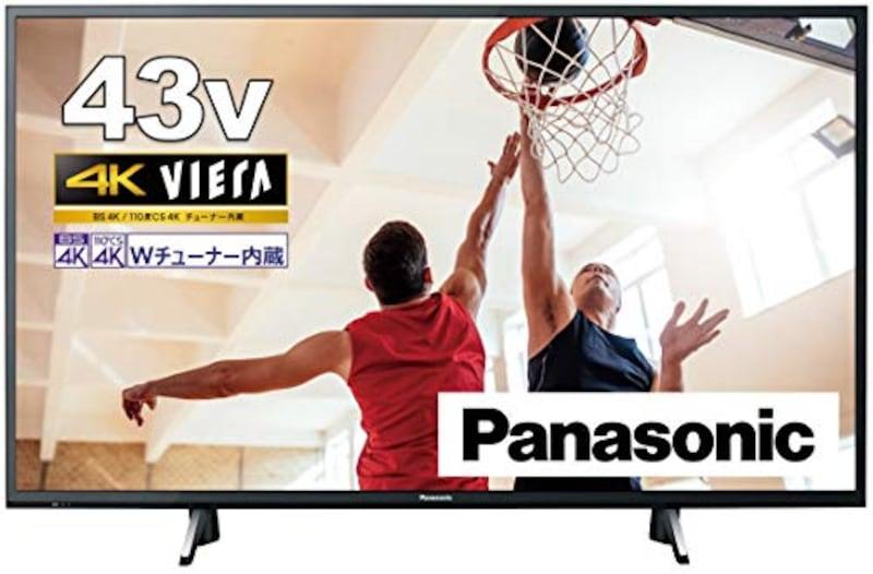パナソニック,43V型 4Kダブルチューナー内蔵 液晶テレビ,TH-43GX750GX755