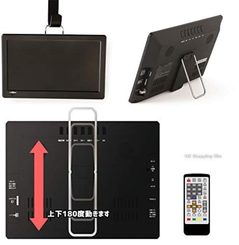 ダイヤモンドヘッド,録画機能 テレビ 小型 11.6インチ液晶 地上デジタルテレビ HDMI フルセグ,OT-FT116AK