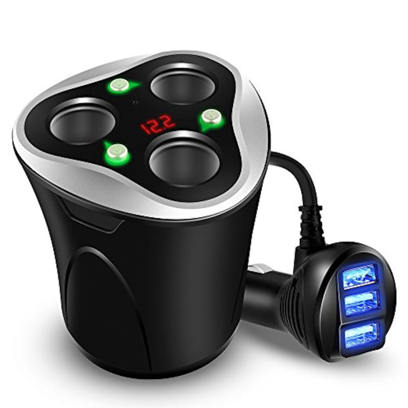 Skyocean,シガーソケットコップ型 USBカーチャージャー 3連