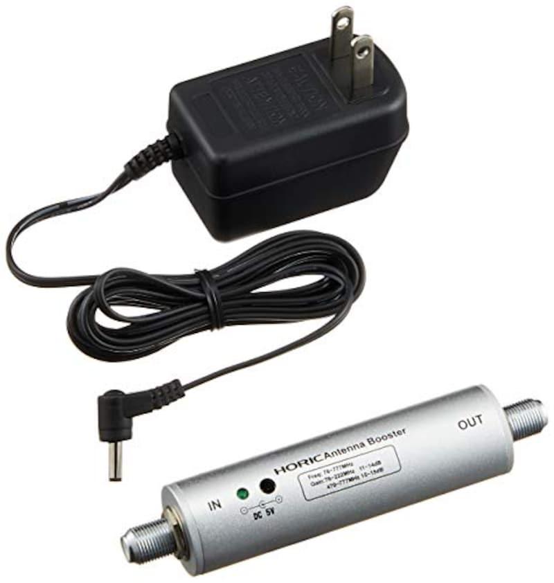 ホーリック,アンテナブースター 室内・地デジ(UHF/VHF)専用 中継タイプ,HAT-ABS024