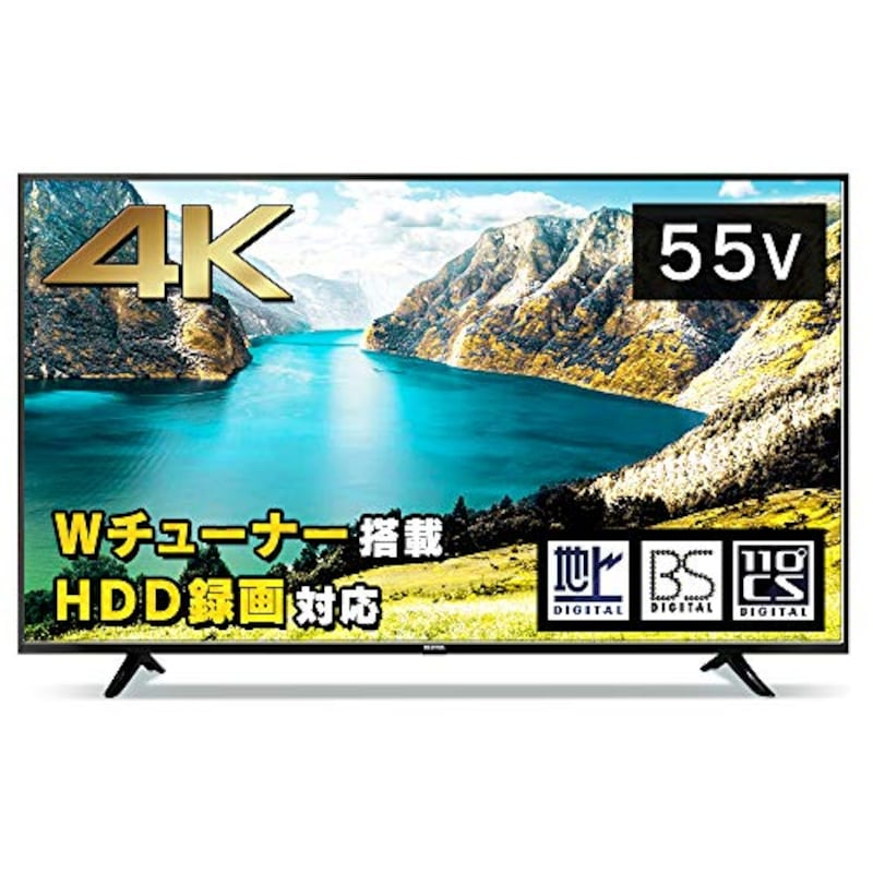 アイリスオーヤマ,55型 4K対応液晶テレビ,55UB10P