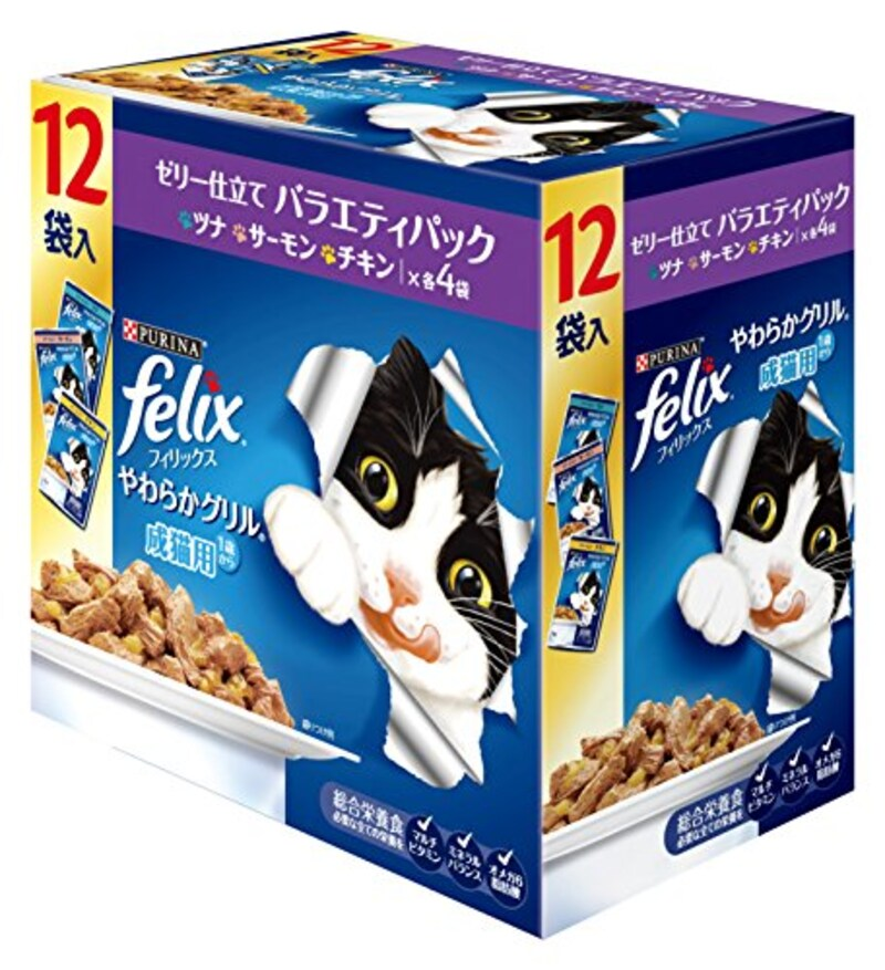 フィリックス,フィリックス やわらかグリル 成猫用 ゼリー仕立て バラエティ,4902201210034