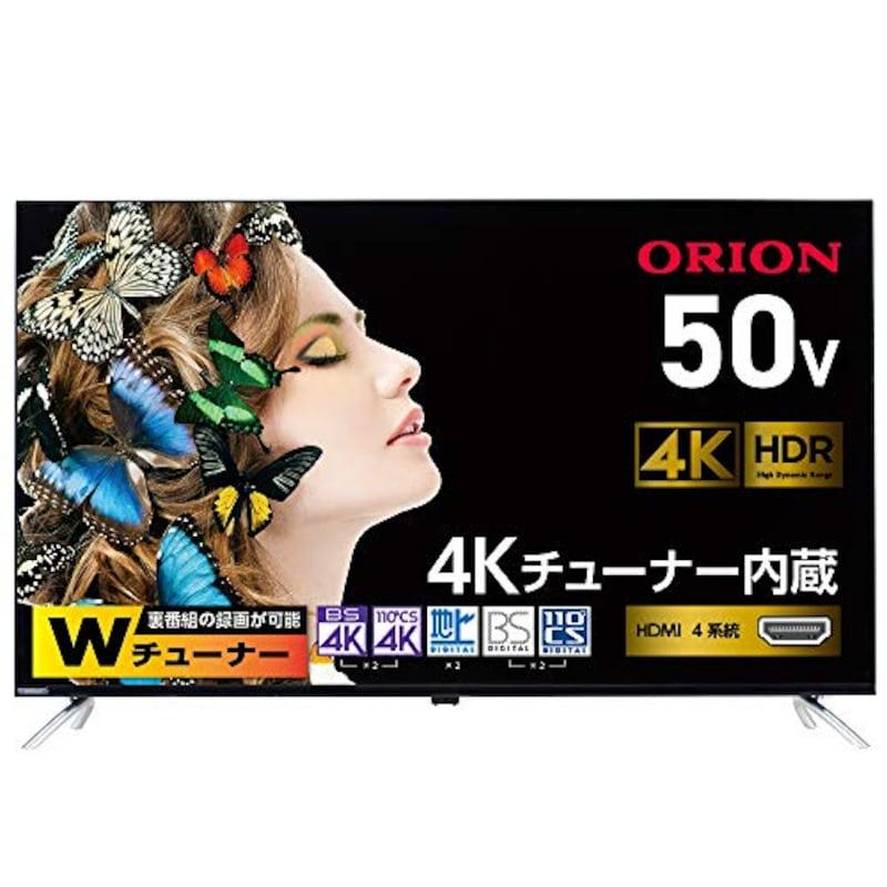 オリオン,50型 4Kチューナー内蔵液晶テレビ,4T-C50AN1