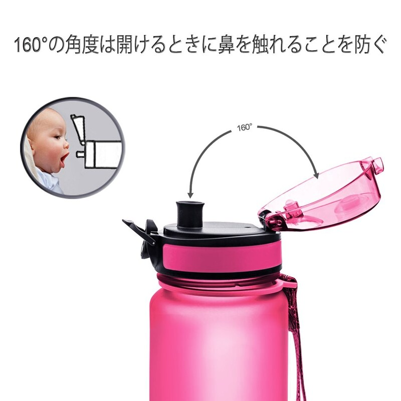 AVOIN colorlife,Tritan プラスチック 水筒