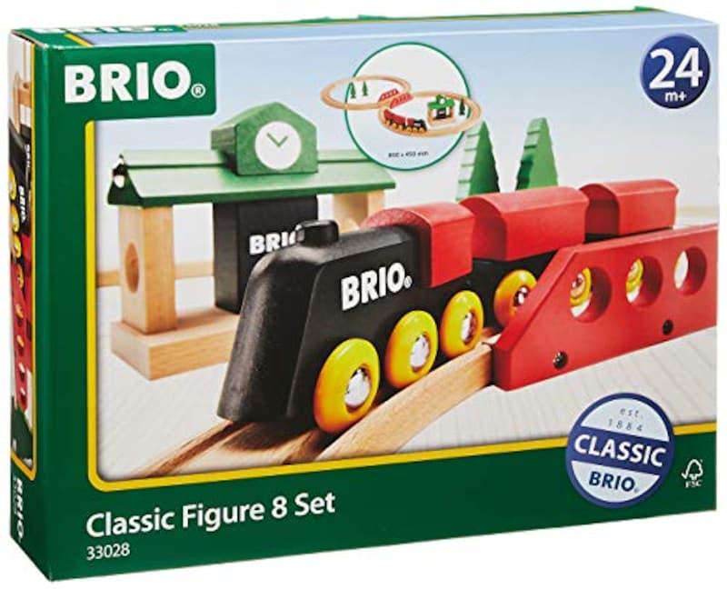 BRIO(ブリオ),クラシックレール 8の字セット,33028