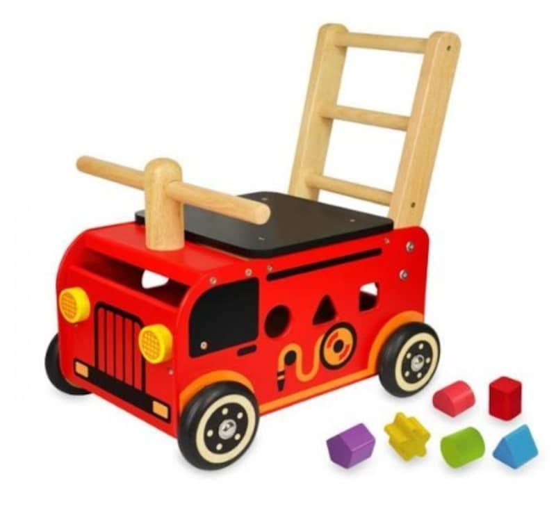 Edute(エデュテ),I'mTOY ウォーカー&ライド 消防車,IM-87480
