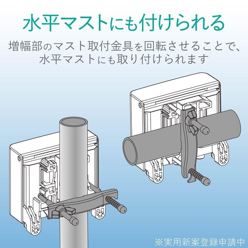 DXアンテナ,CS/BS-IF・UHFブースター 33dB/43dB共用形 デュアルブースター 家庭用,CU43AS