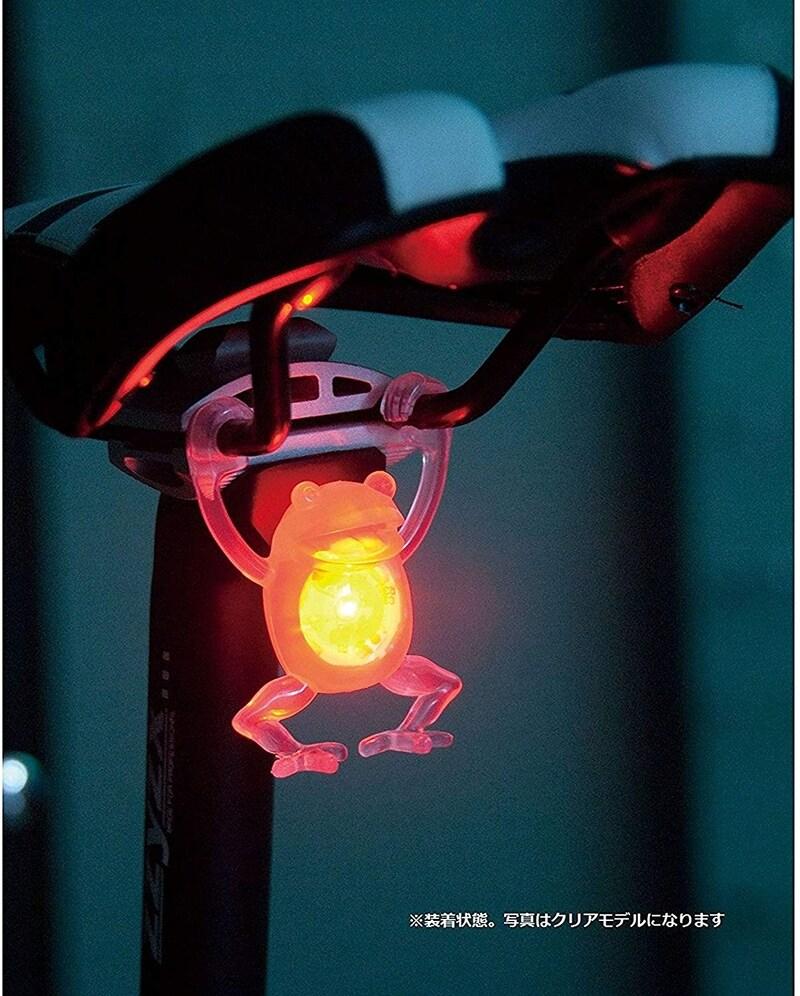 アイリブ,ぶらさカエル 自転車用LEDテールライト