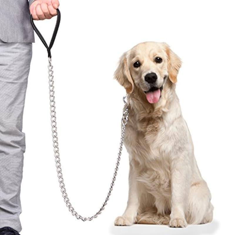 CtopoGo,犬用リード 大型犬用 鎖 金属製