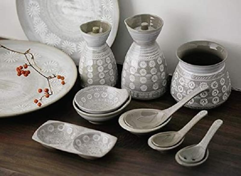 銀峯陶器,花三島レンゲ,20031