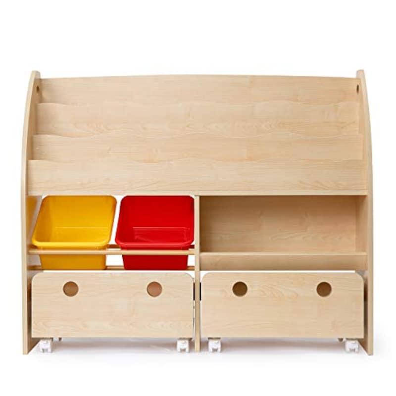 LOWYA (ロウヤ),おもちゃ収納絵本棚,-