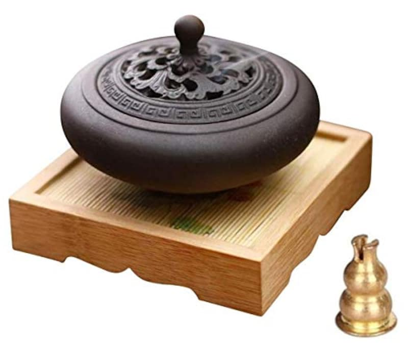 Waymall,木の台付き 香炉 香炉セット