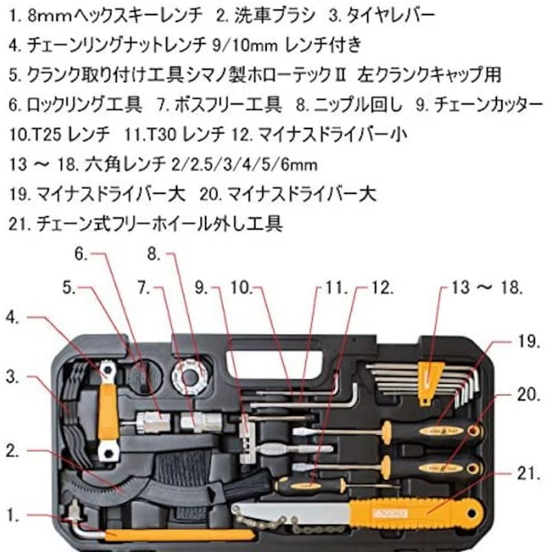 GORIX(ゴリックス),自転車専用工具セット TBX2