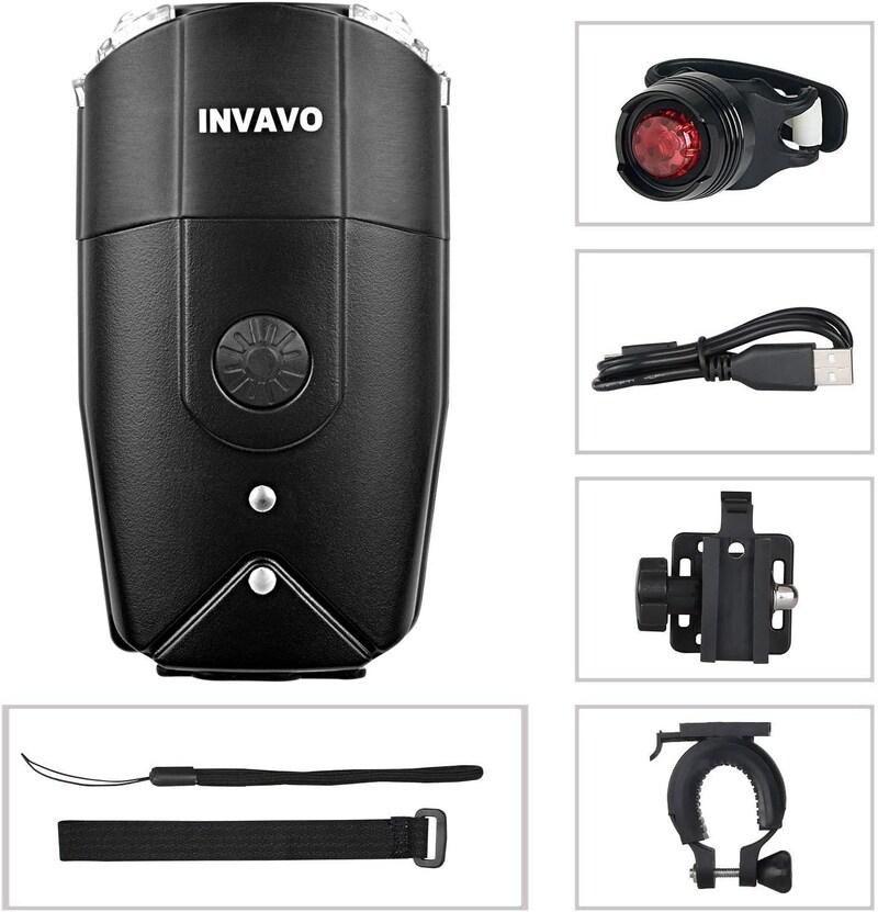 INVAVO,自転車ヘッドライト