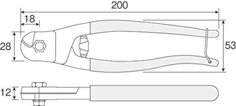 ホーザン(HOZAN),ワイヤーカッター ステンレスワイヤー対応,N-16