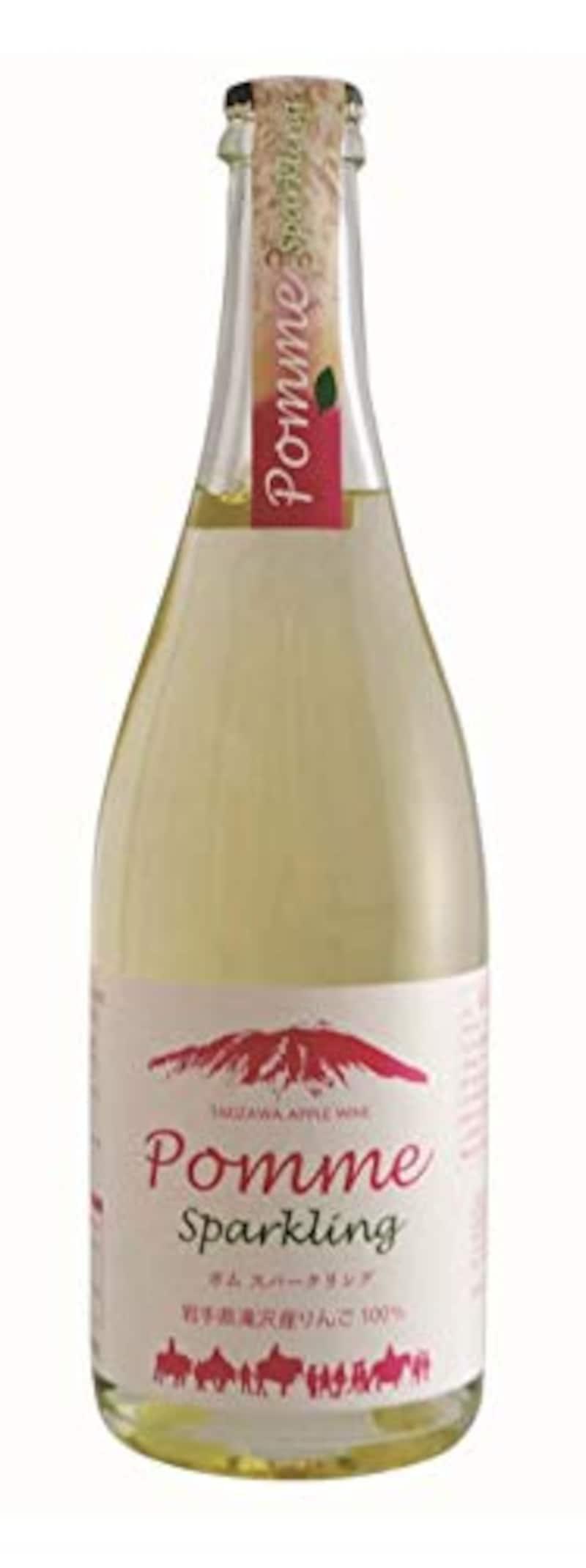 葛巻高原食品加工,くずまきワイン 滝沢りんごワインポムスパークリング