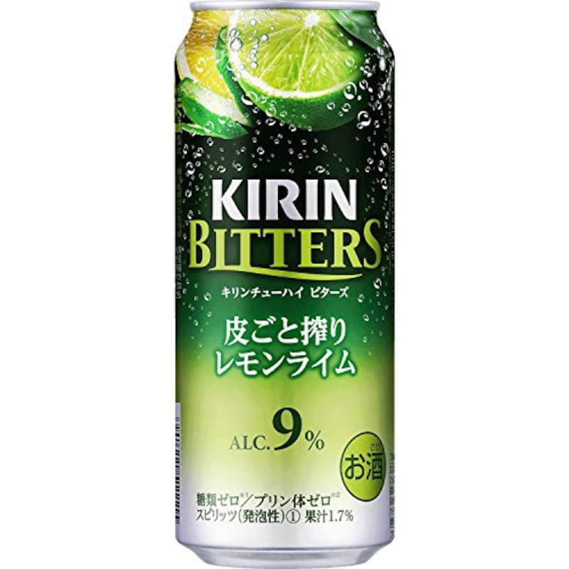 キリン,ビターズ 皮ごと搾りレモンライム