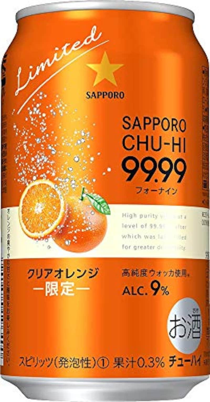 サッポロ,99.99 フォーナイン クリアオレンジ