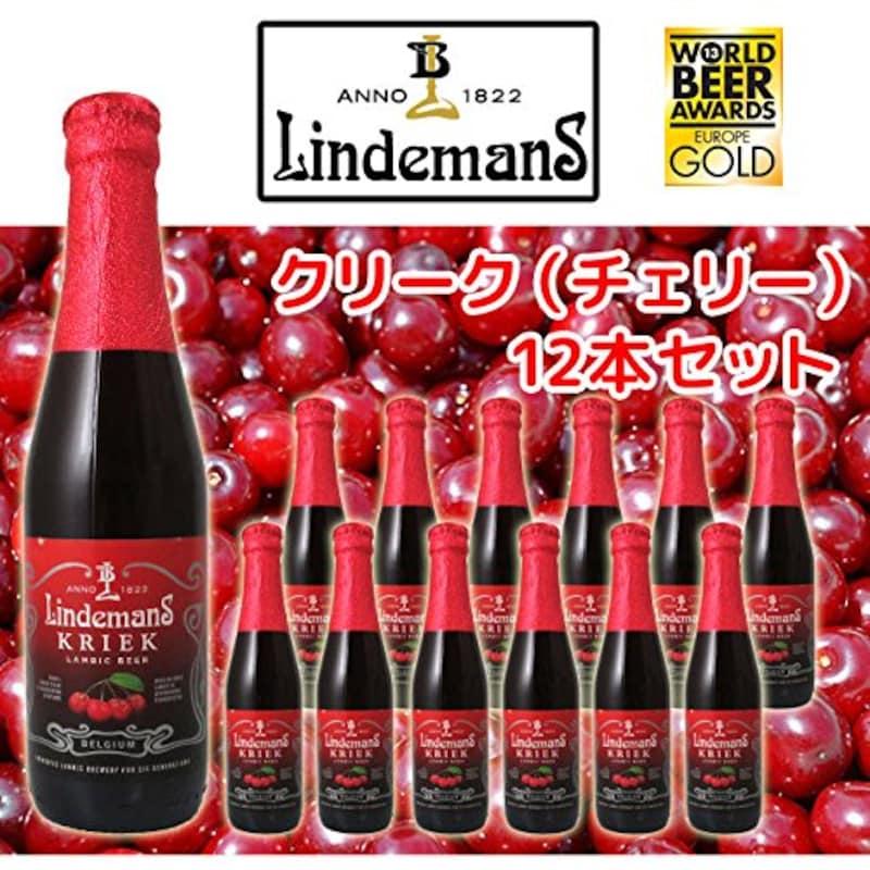 リンデマンス,クリーク 250ml瓶 12本セット ベルギー ランビックビール