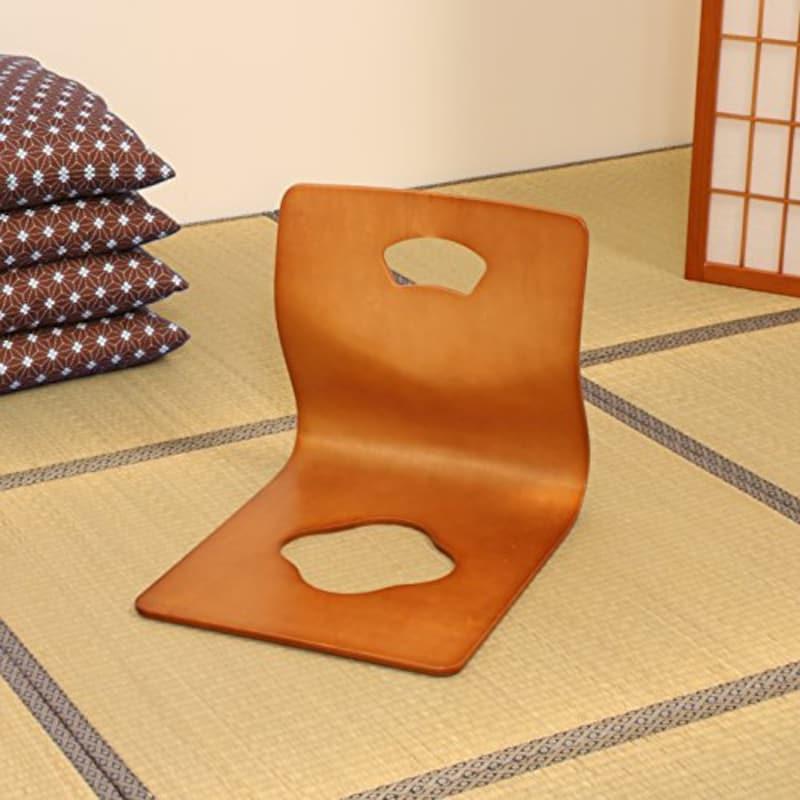 弘益,和座椅子 ブラウン,GZ-395 BR