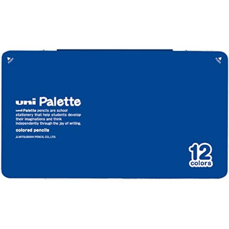 三菱鉛筆,ユニ(uni) パレット 色えんぴつ 12色セット 青,K88012CPLT.33