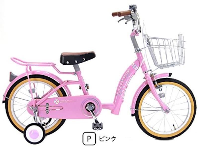 ジェニファー(JENNIFER),補助輪付き カゴ付き 幼児用自転車 キッズサイクル