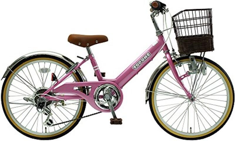 TOPONE,子供用自転車 前カゴ付 シマノ6段変速ギア