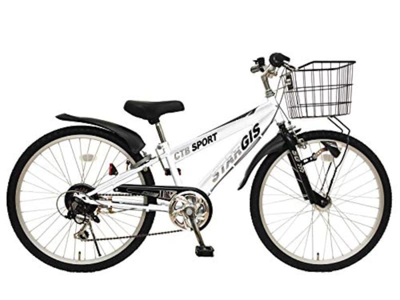 スタージス,6段変速 LEDオートライト 自転車
