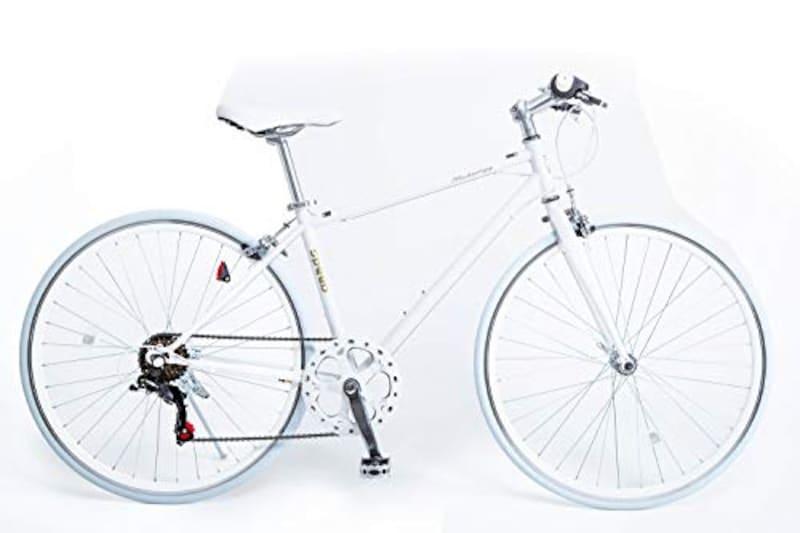 21Technology(21テクノロジー),クロスバイク シマノ製6段変速機付き ホワイト,CL266