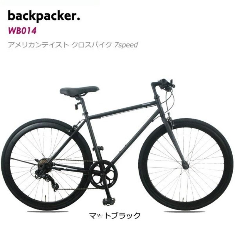 Backpacker(バックパッカー),クロスバイク WB014 マットブラック
