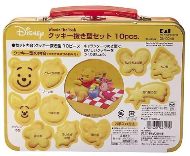 貝印(Kai Corporation),クッキー抜き型缶セット (10ピース) くまのプーさん,DN-0049