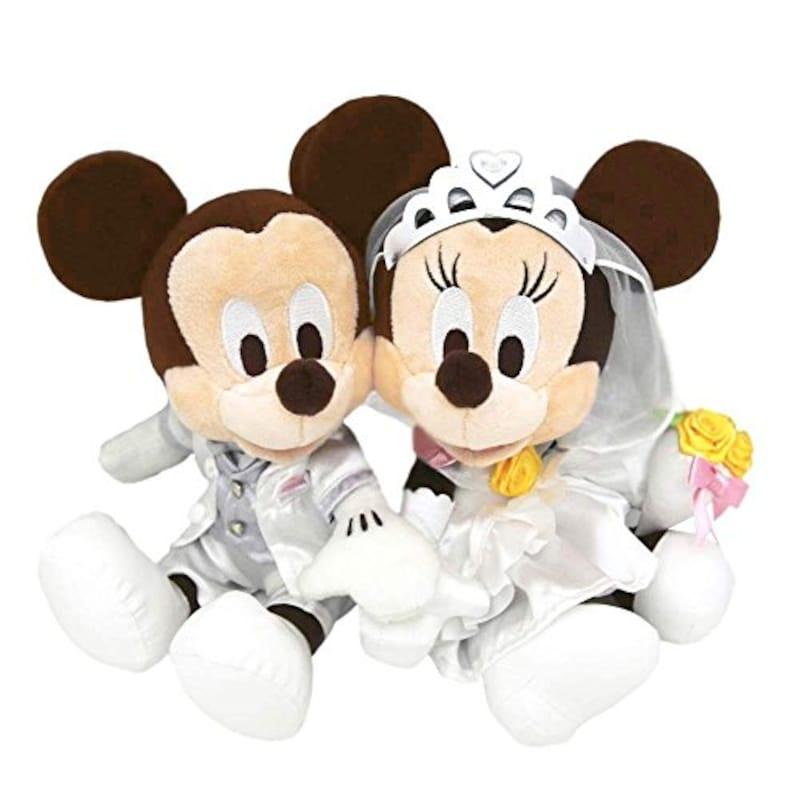 DisneyResort,ペアぬいぐるみ ウェディングバージョン ミッキーマウス&ミニーマウス