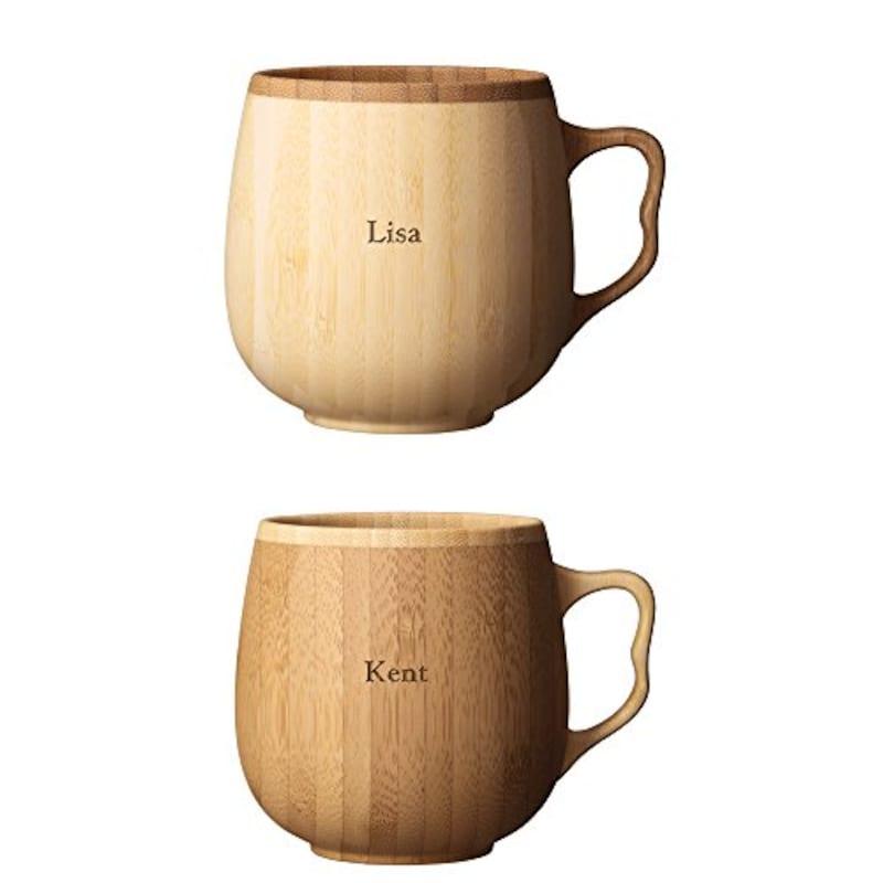 RIVERET,竹製カフェオレマグ ペア 名入れ可