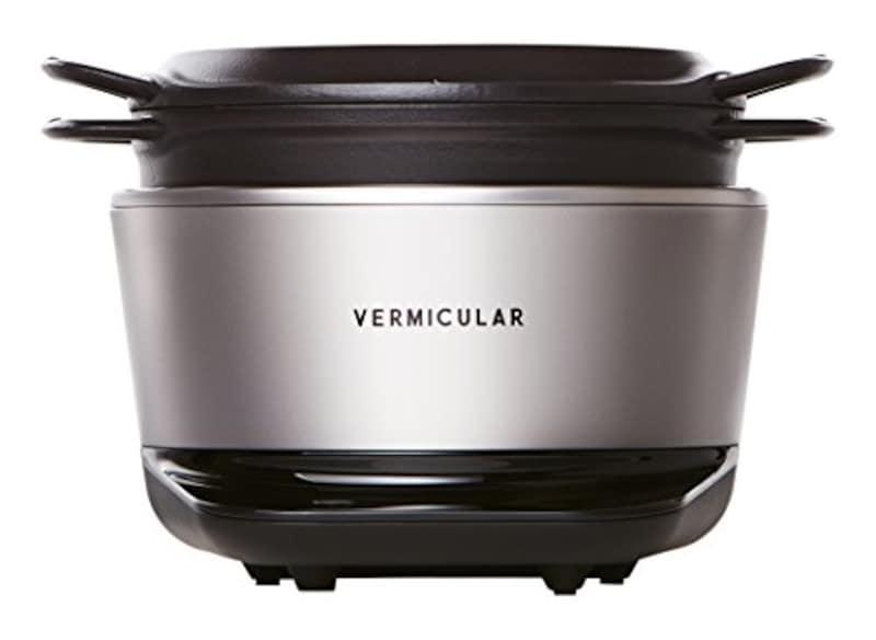 Vermicular(バーミキュラ),ライスポット 5合炊き ソリッドシルバー 専用レシピブック付 ,RP23A-SV
