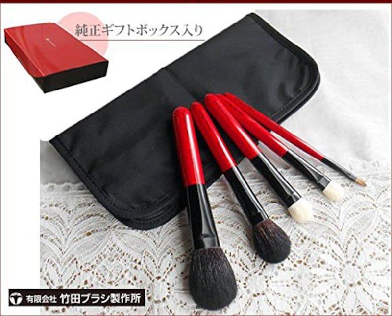 竹田ブラシ製作所,熊野化粧筆 特別5本セット