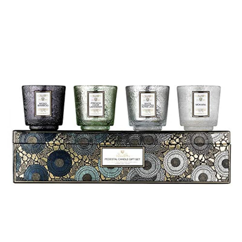 VOLUSPA(ボルスパ),ボルスパ(VOキャンドルセット クールトーン ボルスパ ジャポニカ,Pedestal Candle Gift Set