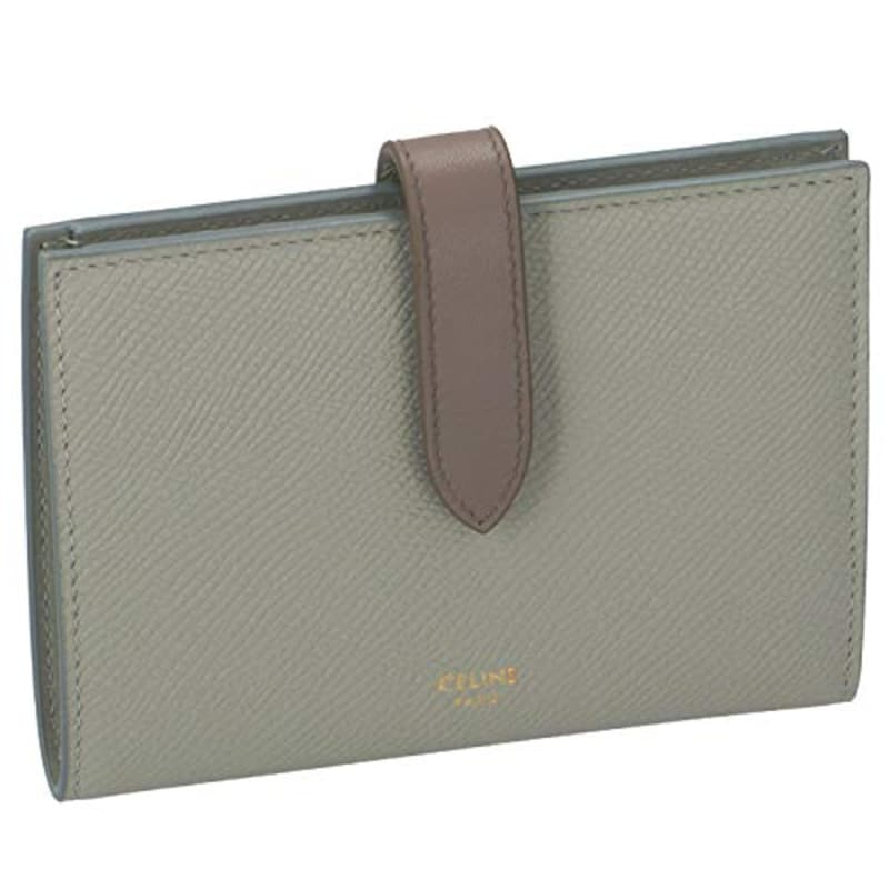 CELINE(セリーヌ),ミディアム ストラップ ウォレット バイカラー 二つ折り財布,10B643BRU30VL