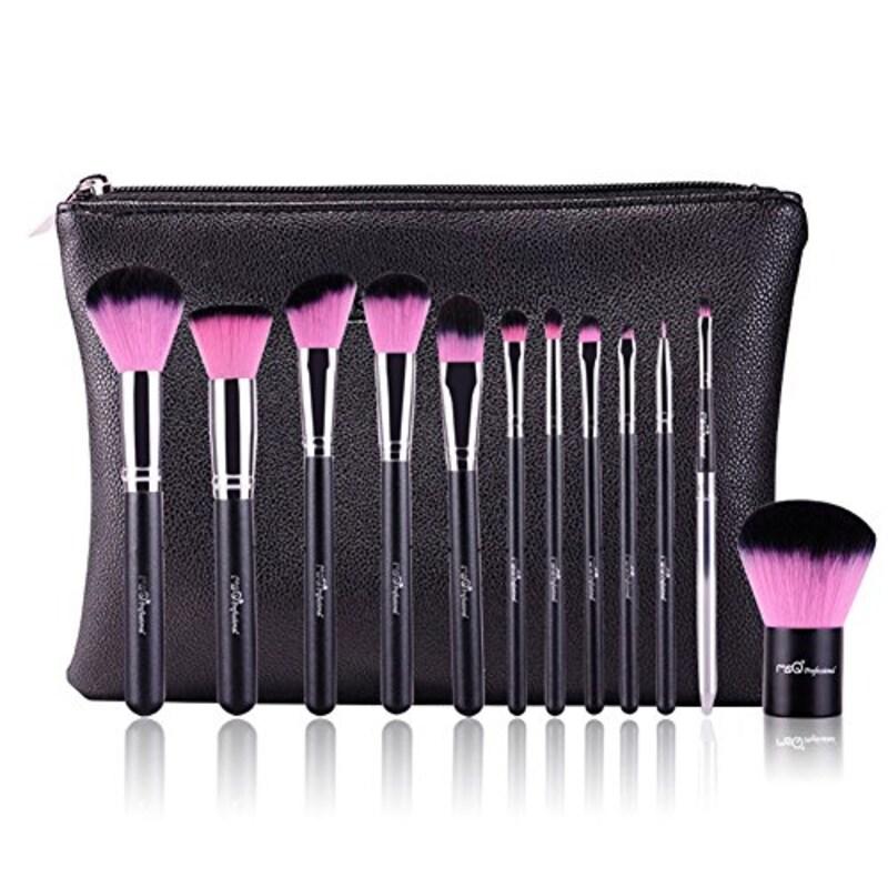 MSKAY-makeup brushes,高級天然毛メイクブラシ コスメ 12本セット