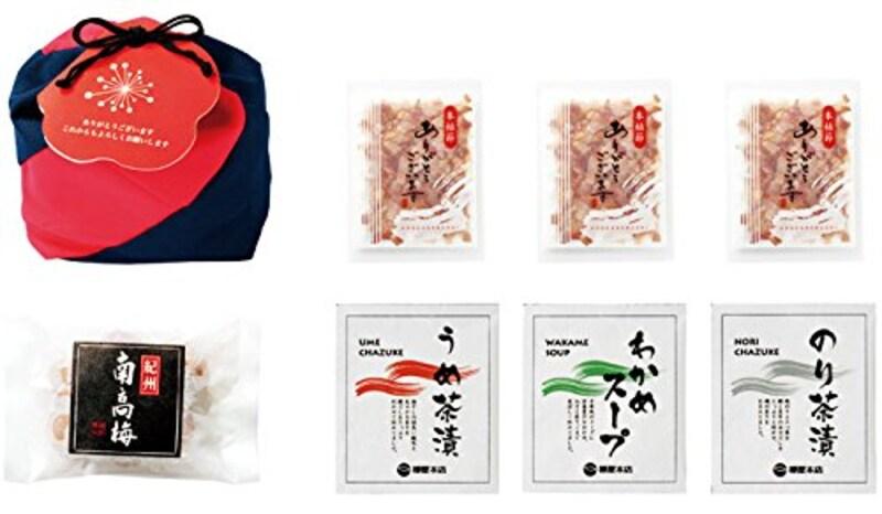Hitomi Produce(ヒトミプロデュース),祝袋 紀州南高梅・かつお節・お茶漬け ギフトセット
