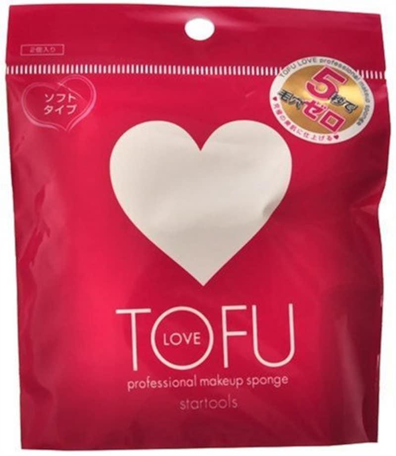 クロスマーケット,TOFU LOVEプロフェッショナルメイクアップスポンジ