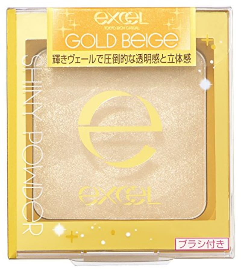 excel(エクセル),シャイニーパウダー N SN02 ゴールドベージュ