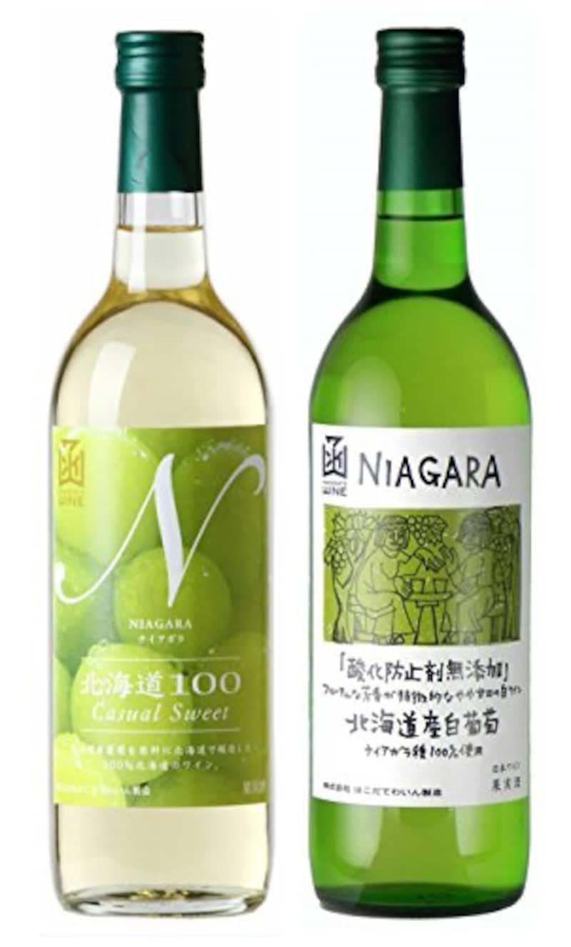 はこだてわいん,北海道産ナイアガラ 2種セット 各720ml