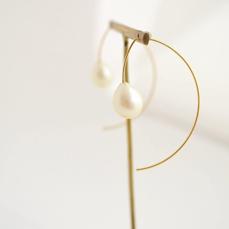 naotjewelry,Long Hook Drop Pearl Pierce,np033