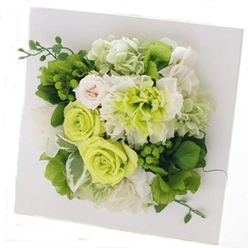 Eclaire flower design ,プリザーブドフラワー フレームインテリア グリーン,SG-002