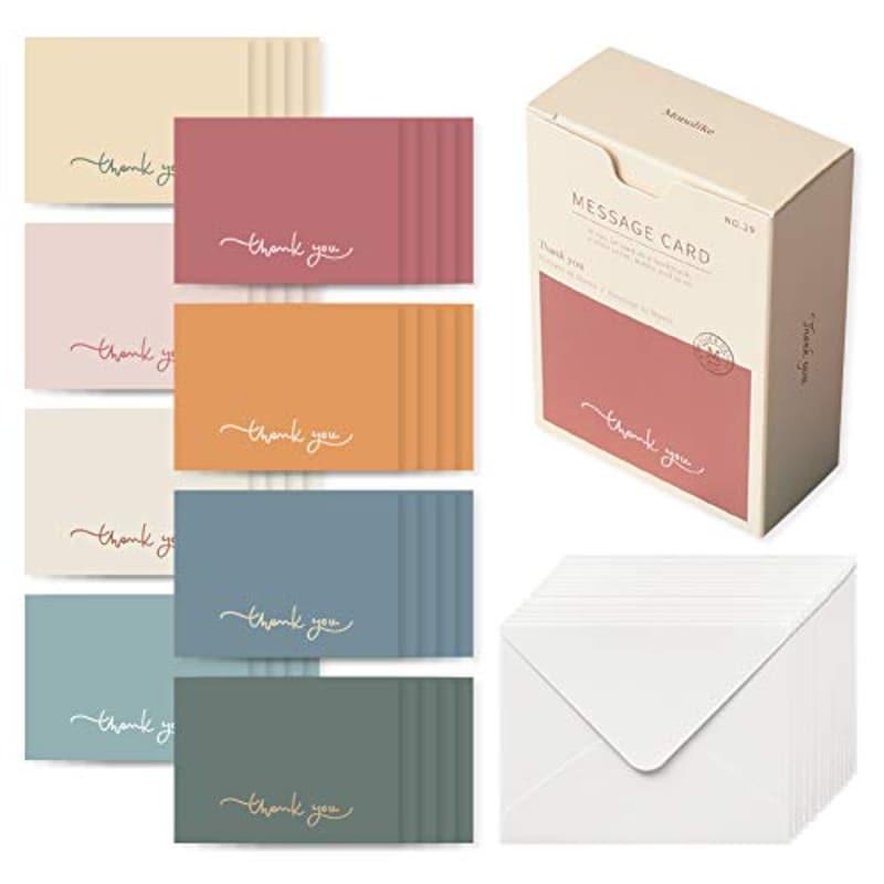 Monolike(モノライク),メッセージカード 40枚封筒20枚セットミニサイズ