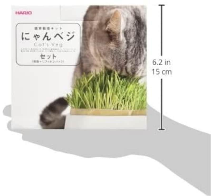 ハリオ (HARIO),猫草栽培キットにゃんベジセット【獣医師おすすめ】
