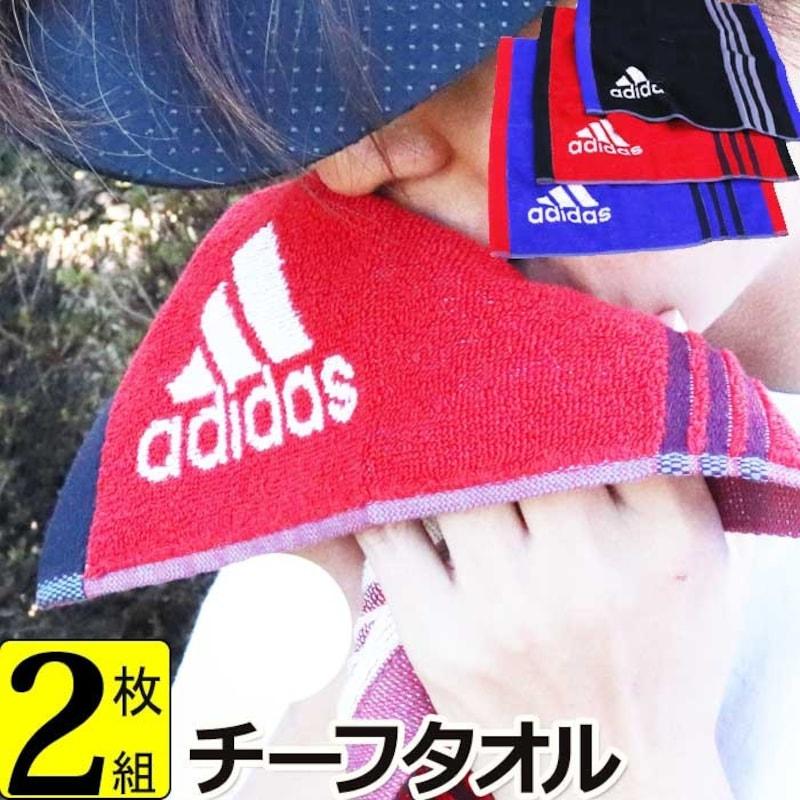 adidas(アディダス),タオルハンカチ 2枚 子供 男性